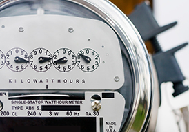 Close-up of an electric meter