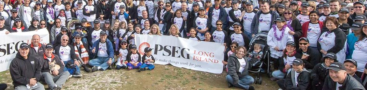 PSEG Long Island volunteers gathered for a group photo at the March of Dimes March for Babies