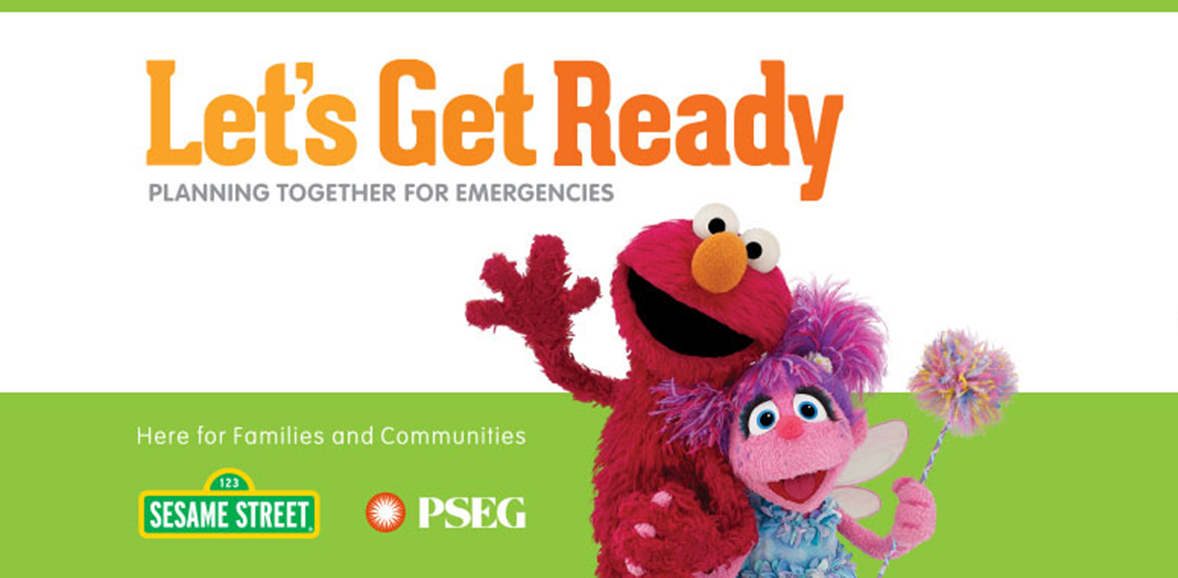 Elmo from Sesame Street waving in a promotional ad for the Let